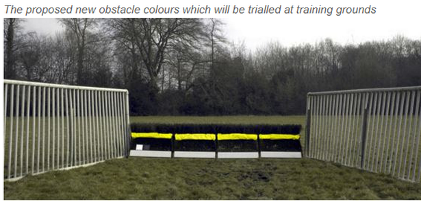 New fence colours for safer jumping